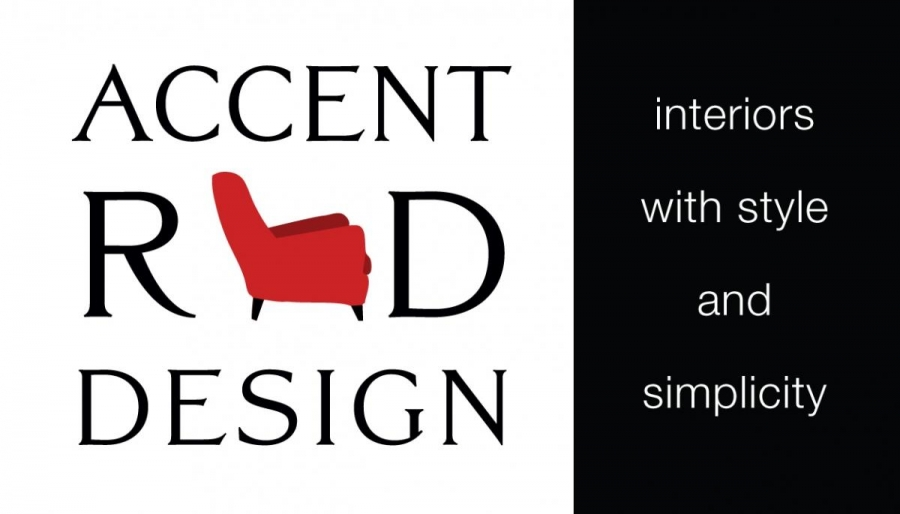 Accent Red Design Logo and Business Card